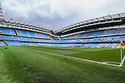 The Etihad Stadium during the Champions League match between Manchester City and Real Madrid at the Etihad Stadium, Manchester, England on 26 April 2016. Photo by Shane Healey.