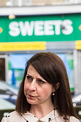 © Licensed to London News Pictures. 20/07/2015. London, UK. Labour leadership contender Liz Kendall at Roupell Park Estate in Brixton to talk about renewable energy. Photo credit : James Gourley/LNP