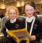 Scriobh Leabhair, Galway Education Centre's booking writing competition for National School pupils At the Radisson Blu saw hundreds of Children awarded for their Writing Skill.<br /> At the event was  Alisha and Isabella Donoghue from Social Einne An Spideal. Photo:Andrew Downes, xposure