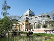 Crystal Palace, Palacio de cristal in Retiro Park,Madrid, Spain