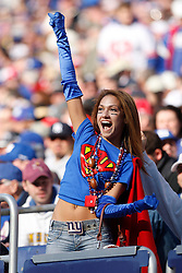 Nov 22, 2009; East Rutherford, NJ, USA; A New York Giants fan cheers during the first half of the Giants game against the Atlanta Falcons at Giants Stadium. Mandatory Credit: Ed Mulholland