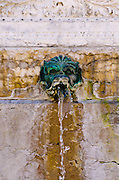 Fountain in old town Vieux Lyon, France (UNESCO World Heritage Site)