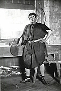 Oscar Asche (1871-1936) Australian-born British actor, member of Frank Benson's Shakespeare company. Asche as Bottom in Shakespeare 'A Midsummer Night's Dream'