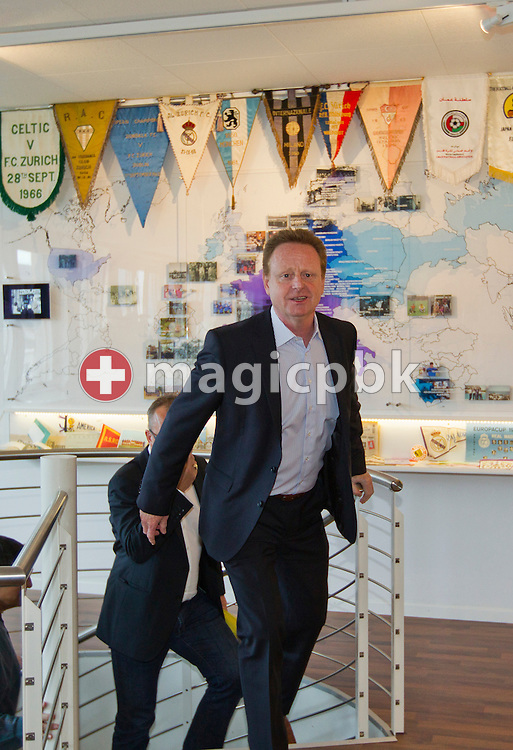 Rolf FRINGER arrives before being presented as new head coach of Swiss National League A soccer club FC Zuerich at the club's museum in Zurich, Switzerland, Friday, March 30, 2012. (Photo by Patrick B. Kraemer / MAGICPBK)