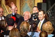 Presidential Hopeful Bernie Sanders (D-Vt) campaigns at the Rochester Opera House in New Hampshire.