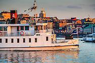 Båt fartyg skärgårdsbåt vid Skeppsholmen i Stockholm.
