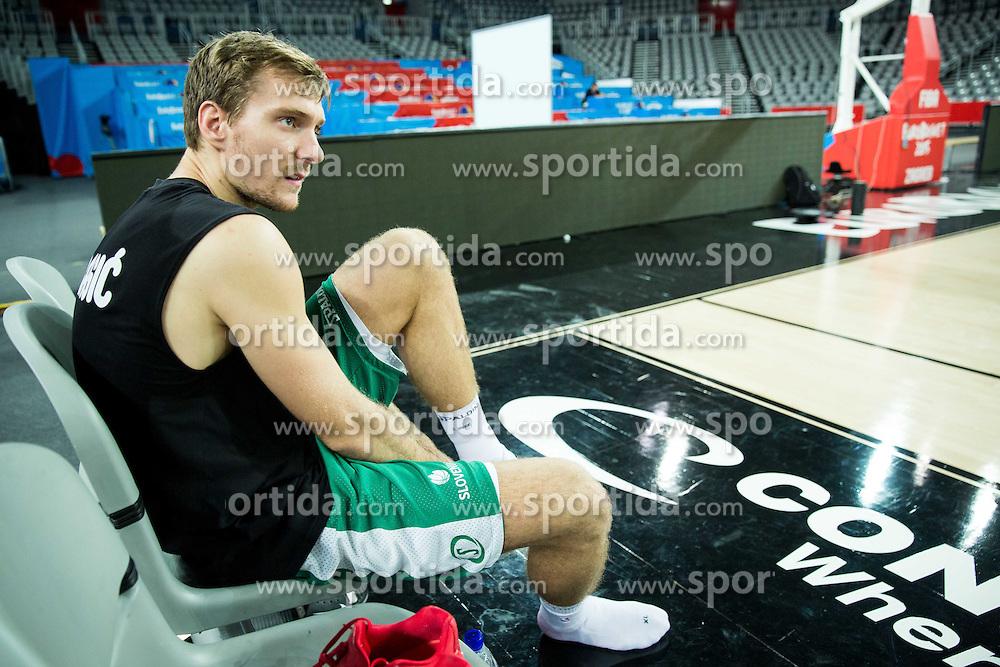 Zoran Dragic of Slovenia during practice session of Team Slovenia at Day 3 in Group C of FIBA Europe Eurobasket 2015, on September 7, 2015, in Arena Zagreb, Croatia. Photo by Vid Ponikvar / Sportida