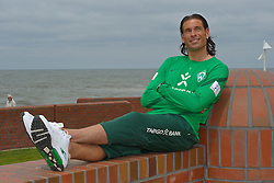 04.07.2011, Hotel Georgshoehe, Norderney, GER, 1.FBL, Trainingslager Werder Bremen,  , im Bild Tim Wiese (Bremen #1) interview - Portrait session.  // during trainingsession from Werder Bremen 2011/07/03    EXPA Pictures © 2011, PhotoCredit: EXPA/ nph/  Kokenge       ****** out of GER / CRO  / BEL ******