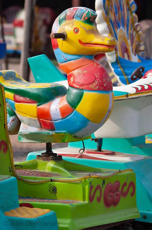 Seahorse Carousel ride in Phnom Penh, Cambodia.