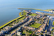 Nederland, Friesland, Stavoren, 28-02-2016; Starum of Staveren, haven en jachthaven. Voormalige Hanzestad, een van de Friese elf steden.<br /> Small Frisian harbour town at IJsselmeer. <br /> <br /> luchtfoto (toeslag op standard tarieven);<br /> aerial photo (additional fee required);<br /> copyright foto/photo Siebe Swart