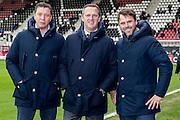 ALKMAAR - 11-12-2016, AZ -  Feyenoord, AFAS Stadion, Assistent trainer Leeroy Echteld, AZ trainer John van den Brom, Assistent trainer Dennis Haar