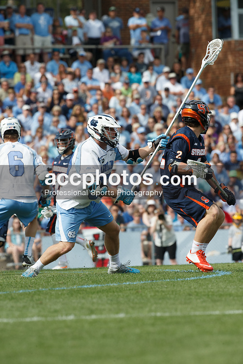 CHAPEL HILL, NC - APRIL 11: Evan Connell #99 of the North Carolina Tar Heels plays against the Syracuse Orange on April 11, 2015 at Fetzer Field in Chapel Hill, North Carolina. North Carolina won 17-15. (Photo by Peyton Williams/US Lacrosse/Getty Images) *** Local Caption *** Evan Connell
