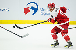 Frederik Storm of Denmark during Ice Hockey match between Russia and Denmark at Day 6 in Group B of 2015 IIHF World Championship, on May 6, 2015 in CEZ Arena, Ostrava, Czech Republic. Photo by Vid Ponikvar / Sportida