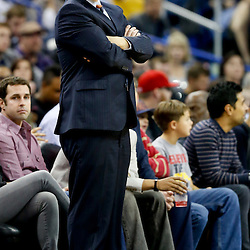 Dec 13, 2013; New Orleans, LA, USA; Memphis Grizzlies head coach David Joerger against the New Orleans Pelicans during the first half of a game at New Orleans Arena. Mandatory Credit: Derick E. Hingle-USA TODAY Sports