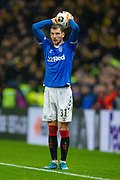 Borna Barisic (#31) of Rangers FC during the Europa League Group G match between Rangers FC and BSC Young Boys at Ibrox Park, Glasgow, Scotland on 12 December 2019.