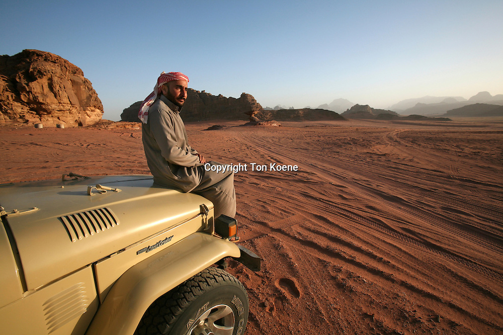 Bedouin in  the Wadi Rum dessert, Jordan