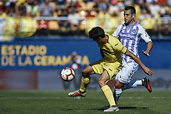 September 30, 2018 - Vila-Real, Castellon, Spain - Gerard Moreno (L) of Villarreal CF competes for the ball with Kiko Olivas of Real Valladolid during the La Liga match between Villarreal CF and Real Valladolid at Estadio de la Ceramica on September 30, 2018 in Vila-real, Spain  (Credit Image: © David Aliaga/NurPhoto/ZUMA Press)