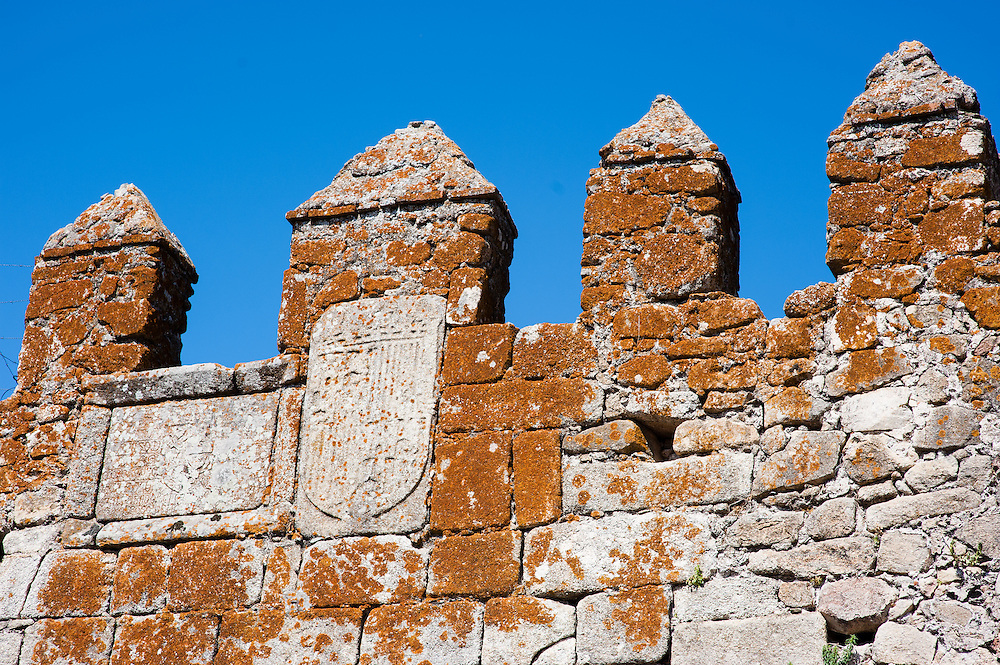 Medieval wall in Trujillo (Spain)