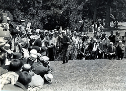 Billy Casper hitting to the 7th green at the Olympic Club in S.F. Casper won the Open in 1966. (photo/Ron.Riesterer)