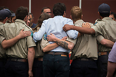 Justin Trudeau Visits Prince George Fire Centre - 23 Aug 2018
