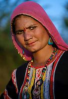 PUSHKAR, INDIA - CIRCA NOVEMBER 2016: Portrait of Indian Woman