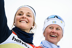 February 24, 2019 - Seefeld In Tirol, AUSTRIA - 190224 Stina Nilsson and Maja Dahlqvist of Sweden  at the podium after womenÃ•s team sprint final during the FIS Nordic World Ski Championships on February 24, 2019 in Seefeld in Tirol..Photo: Vegard Wivestad GrÂ¿tt / BILDBYRN / kod VG / 170295 (Credit Image: © Vegard Wivestad Gr¯Tt/Bildbyran via ZUMA Press)