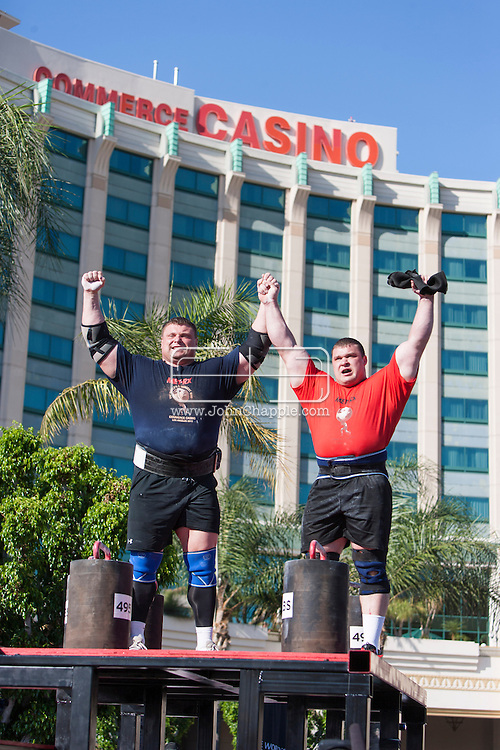 October 1, 2012. Commerce, California.  The 2012 MET-Rx World's Strongest Man competition, saw 30 international competitors battle it out in front of the Commerce Casino, to win the ultimate strongman title...Photo John Chapple / © IMG Media Ltd..