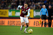 Burnley midfielder Dwight McNeil (11) during the Premier League match between Burnley and West Ham United at Turf Moor, Burnley, England on 9 November 2019.