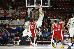 November 9, 2017 - Assago, Milan, Italy - Aaron White (#30 Zalgiris Kaunas) make a slam-dunk during a game of Turkish Airlines EuroLeague basketball between  AX Armani Exchange Milan vs Zalgiris Kaunas at Mediolanum Forum on November 9, 2017 in Milan, Italy. (Credit Image: © Roberto Finizio/NurPhoto via ZUMA Press)