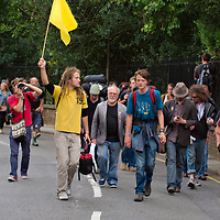 London  Protesters on the first day of Calimate Camp 2009 in London...Standard Licence feee's apply  to all image usage.Marco Secchi - Xianpix tel +44 (0) 7717 298571.http://www.marcosecchi.com