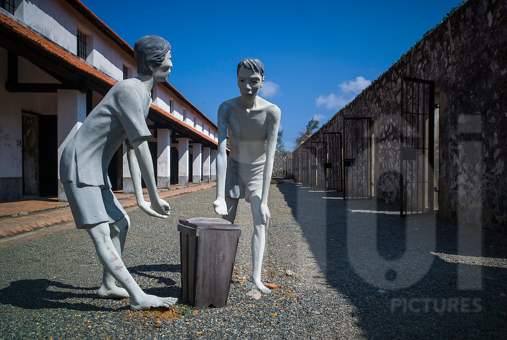 Mannequins representing political prisoners at Phu Tuong prison, known as the 'French Tiger Cages' in Con Dao, Ba Ria - Vung Tau Province, Vietnam, Southeast Asia