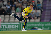 Ryan Stevenson of Hampshire bowling during the Vitality T20 Blast South Group match between Hampshire County Cricket Club and Middlesex County Cricket Club at the Ageas Bowl, Southampton, United Kingdom on 20 July 2018. Picture by Dave Vokes.