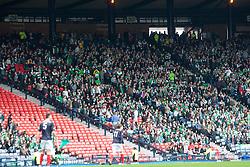 Hibernian fans leaving the stadium after Falkirk's third goal..Hibernian 4 v 3 Falkirk, William Hill Scottish Cup Semi Final, Hampden Park..©Michael Schofield..
