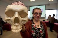 "Amira Mahti,  at the ""undergrad"" Science Fair in NUIG. Photo:Andrew Downes"