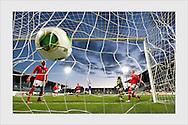 Emmi Alanen scores a late winning goal. Finland - Austria, Women's World Cup qualification, Turku, September 25, 2013.
