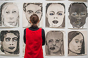 Rejects 1994 - ongoing - A new exhibition of paintings by Marlene Dumas at the Tate Modern opens on 5th Feb. It is one of the most significant displays of her work ever to be held in Europe, bringing together over 100 of her most important and iconic figurative paintings from throughout her career. The three key items/sets are:  'Great Britain' – Dumas's powerful double portrait of Princess Diana and Naomi Campbell, on loan from a private collection; A group of Dumas's iconic large-scale portraits, including friends, family, figures from history and celebrities such as Amy Winehouse; 'Rejects' – a huge grid of 40 powerful black-and-white portrait paintings which Dumas has created over twenty years.