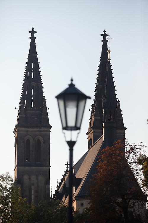 Die St.-Peter-und-Paul-Kirche (Kostel sv. Petra a Pavla) auf dem Vysehrad.