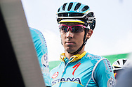 Diego Rosa (ITA AST) before the start of Il Lombardia 2015 (Bergamo - Como)