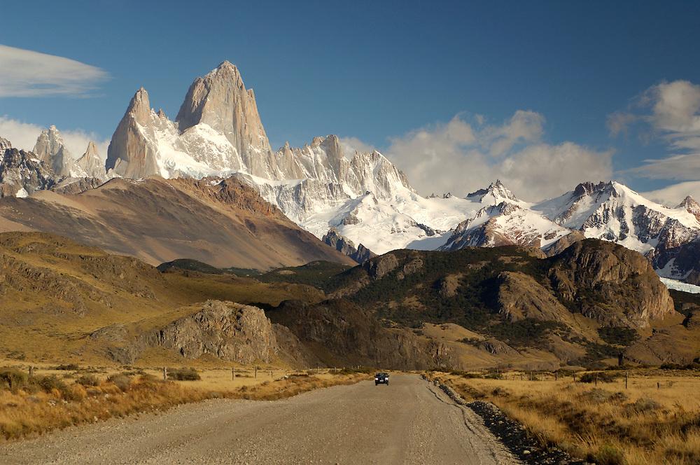 Montana Fitz Roy, Mountain, Parque Nacional Los Glaciares, El Chalten, Santa Cruz, Patagonia, Argentina