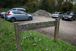 © Licensed to London News Pictures. 25/04/2016. Dorking, UK. Mill Road car park in South Holmwood near Dorking. Police searching for Lee Taylor say they have found a body. Mr Taylor went missing from his Tadworth home on Sunday 24th April after the unexpected death of his wife.  Photo credit: Peter Macdiarmid/LNP