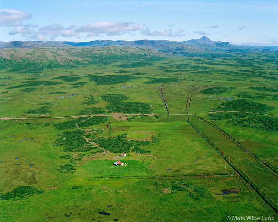 Birkiból séð til norðurs, Borgarbyggð áður Borgarhreppur / Birkibol viewing north. Borgarbyggd former Borgarhreppur.