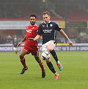 Dundee's Greg Stewart and Aberdeen&rsquo;s Shaleum Logan -  Dundee v Aberdeen, William Hill Scottish FA Cup 4th round at Dens Park<br /> <br />  - &copy; David Young - www.davidyoungphoto.co.uk - email: davidyoungphoto@gmail.com