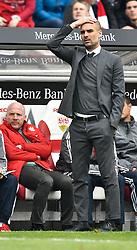 09.04.2016, Mercedes Benz Arena, Stuttgart, GER, 1. FBL, VfB Stuttgart vs FC Bayern Muenchen, 29. Runde, im Bild Trainer Pep Guardiola FC Bayern Muenchen // during the German Bundesliga 29th round match between VfB Stuttgart and FC Bayern Munich at the Mercedes Benz Arena in Stuttgart, Germany on 2016/04/09. EXPA Pictures © 2016, PhotoCredit: EXPA/ Eibner-Pressefoto/ Weber<br /> <br /> *****ATTENTION - OUT of GER*****