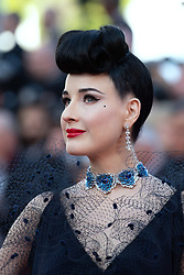 Dita Von Tease attending the Rocketman Premiere as part of the 72nd Cannes International Film Festival in Cannes, France on May 16, 2019. Photo by Aurore Marechal/ABACAPRESS.COM