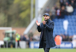 Milton Keynes Dons manager Paul Tisdale applauds the fans at the final whistle - Mandatory by-line: Arron Gent/JMP - 27/04/2019 - FOOTBALL - JobServe Community Stadium - Colchester, England - Colchester United v Milton Keynes Dons - Sky Bet League Two