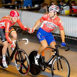 29-12-2015: Wielrennen: NK Baan: Alkmaar  ALKMAAR (NED) baanwielrennen  <br />Op de wielerbaan van Alkmaar streden de wielrenners om de nationale baantitels<br />Madison Jeff Vermeulen Pim Ligthart