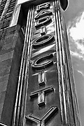 Radio city music hall sign. 2010