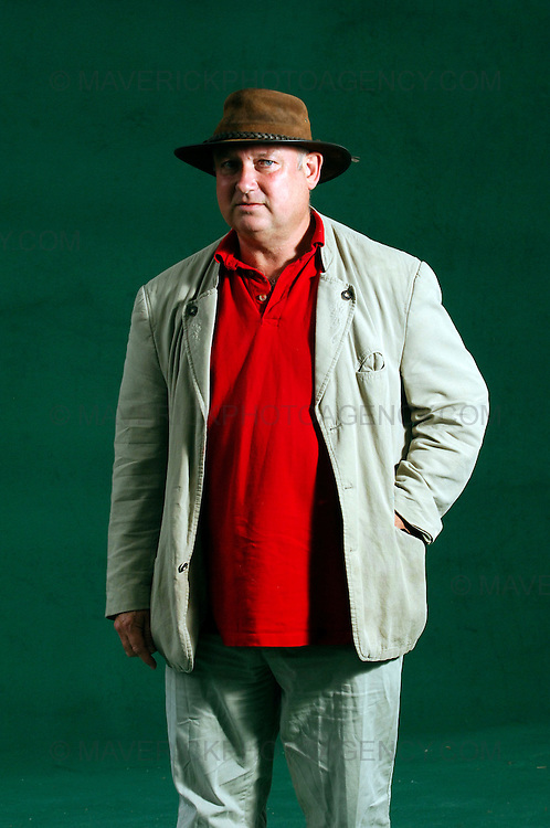 EDINBURGH, UK - 16th August 2010: Author portrait session coverage of The Edinburgh International Book Festival 2010 at Charlotte Square in Edinburgh...Picture shows author Louis De Bernieres ..(Photograph: Richard Scott/MAVERICK)