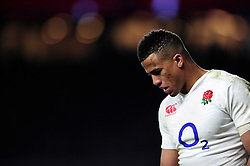 Anthony Watson of England - Mandatory byline: Patrick Khachfe/JMP - 07966 386802 - 27/02/2016 - RUGBY UNION - Twickenham Stadium - London, England - England v Ireland - RBS Six Nations.