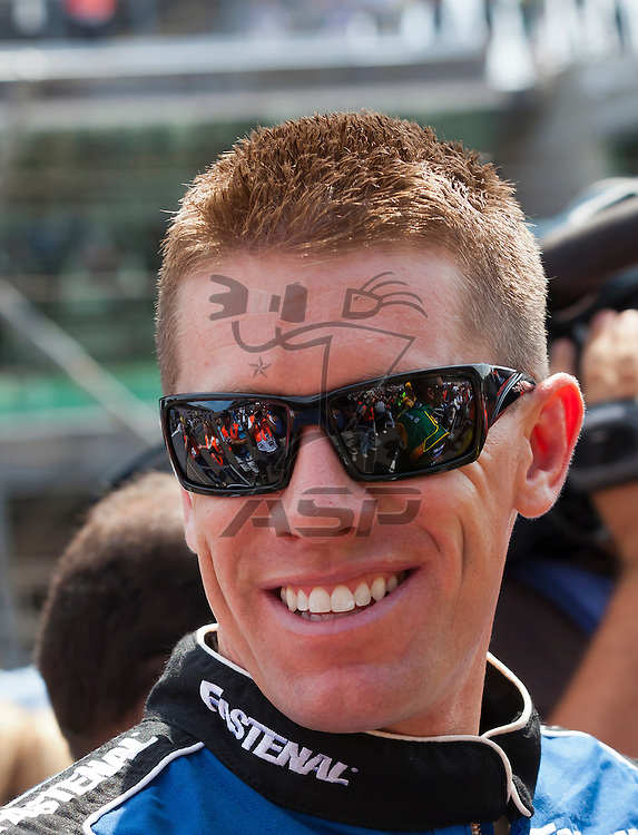 INDIANPOLIS, IN - JUL 29, 2012:  Carl Edwards (99) prepares to run the Sprint Cup Series race at the Indianapolis Motor Speedway in Indianapolis, IN.